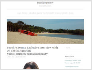 Sheila Nazarian, MD MMM- Beverly Hills Plastic Surgeon- Beachie Beauty Article