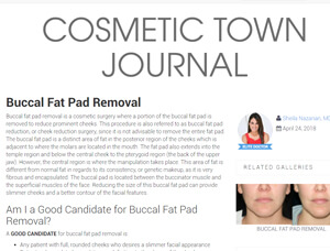 Nazarian Plastic Surgery - Buccal Fat Pad Removal