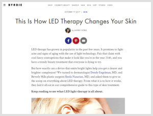 Nazarian Plastic Surgery - Byrdie - LED Therapy