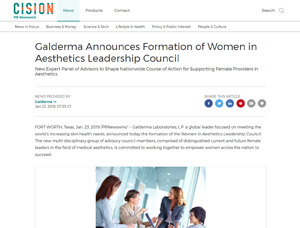 Galderma Announces Formation of Women in Aesthetics Leadership Council