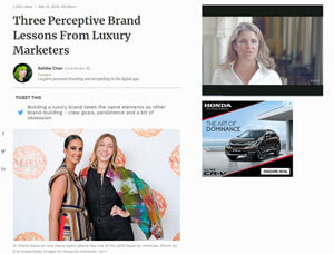 Three Perceptive Brand Lessons From Luxury Marketers