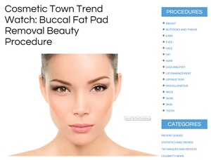 Cosmetic Town Trend Watch: Buccal Fat Pad Removal Beauty Procedure