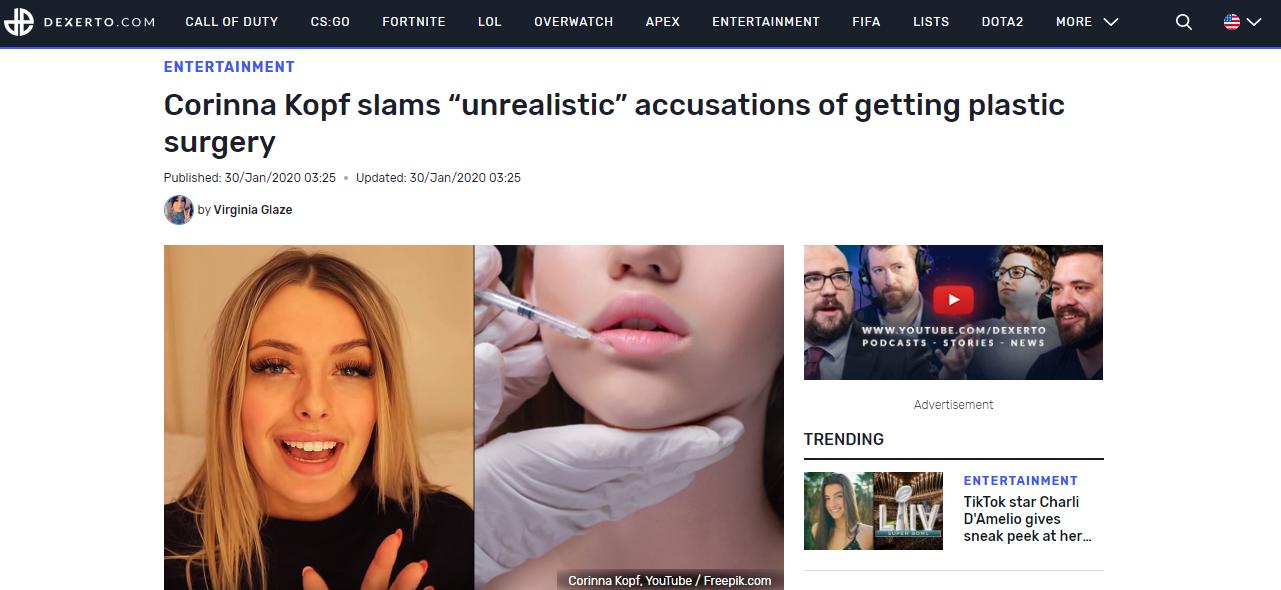 "Corinna Kopf slams ""unrealistic"" accusations of getting plastic surgery"