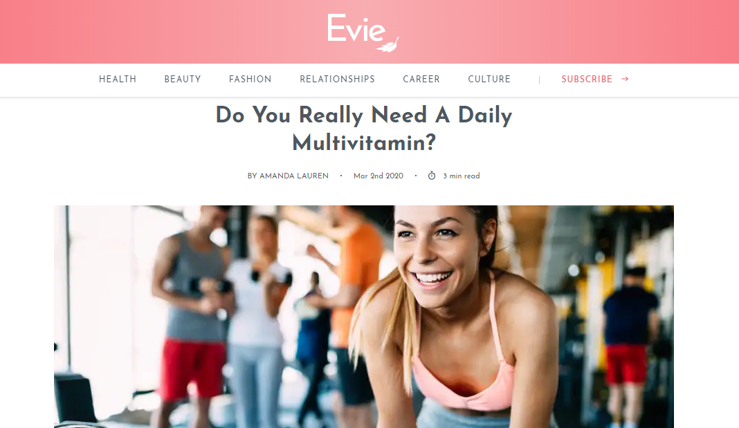 Do You Really Need A Daily Multivitamin?