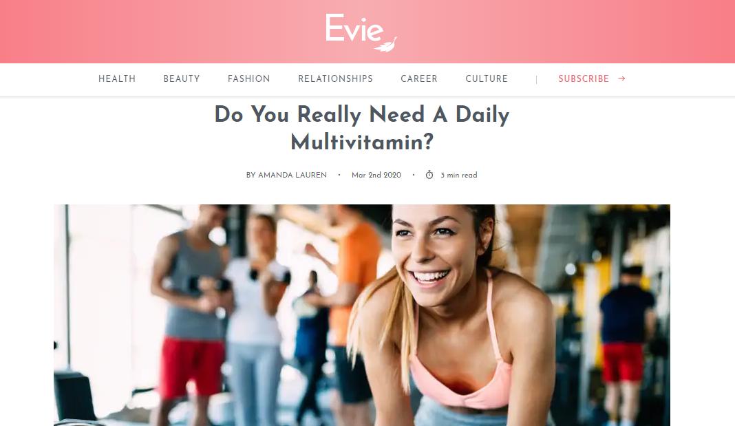 Do You Really Need A Daily Multivitamin?