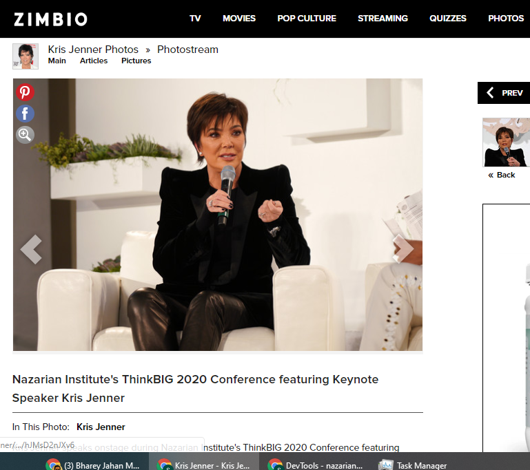 Nazarian Institute's ThinkBIG 2020 Conference featuring Keynote Speaker Kris Jenner
