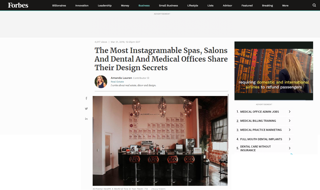The Most Instagramable Spas, Salons And Dental And Medical Offices Share Their Design Secrets