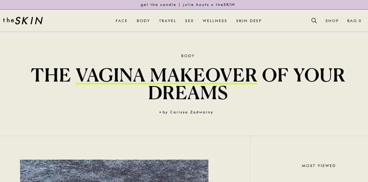 THE VAGINA MAKEOVER OF YOUR DREAMS