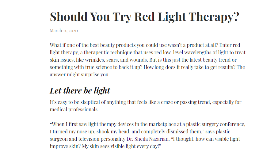 Should You Try Red Light Therapy?