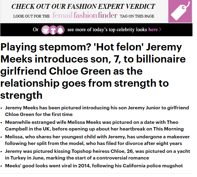 Playing stepmom? 'Hot felon' Jeremy Meeks introduces son, 7, to billionaire girlfriend Chloe Green as the relationship goes from strength to strength