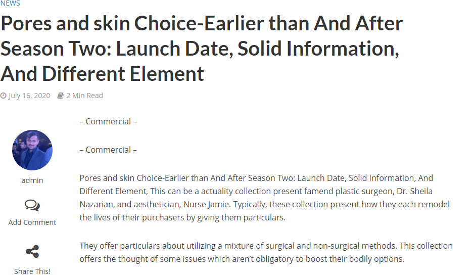 Pores and skin Choice-Earlier than And After Season Two: Launch Date, Solid Information, And Different Element